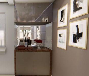 Amanda Leite Escritório de Arquitetura e Interiores - Arquiteto em Curitiba - Adega Residencial pequena e moderna