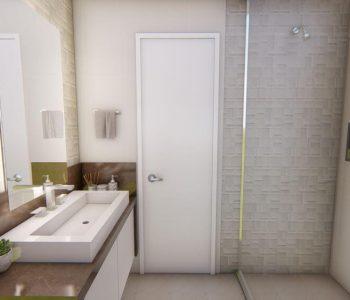 Amanda Leite Escritório de Arquitetura e Interiores - Arquiteto em Curitiba - Banheiro Marrom 01