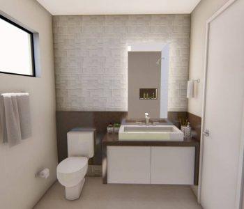Amanda Leite Escritório de Arquitetura e Interiores - Arquiteto em Curitiba - Banheiro Marrom 02
