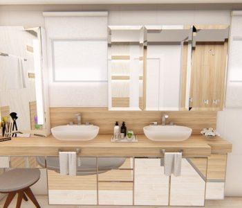 Amanda Leite Escritório de Arquitetura e Interiores - Arquiteto em Curitiba - Banheiro Moderno 03
