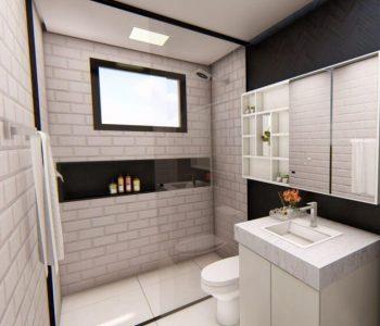 Amanda Leite Escritório de Arquitetura e Interiores - Arquiteto em Curitiba - Banheiro Preto