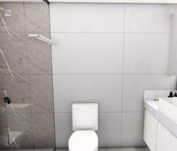 Amanda Leite Escritório de Arquitetura e Interiores - Arquiteto em Curitiba - Banheiro cinza e branco 02