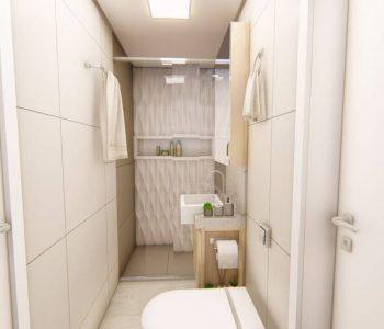 Amanda Leite Escritório de Arquitetura e Interiores - Arquiteto em Curitiba - Banheiro pequeno