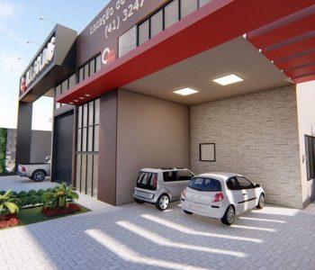 Amanda Leite Escritório de Arquitetura e Interiores - Arquiteto em Curitiba - Barracão Industrial Moderno 01