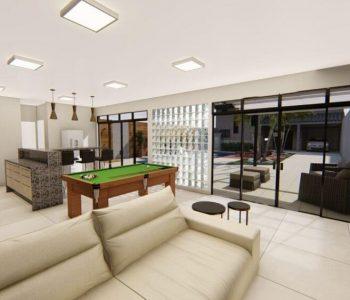 Amanda Leite Escritório de Arquitetura e Interiores - Arquiteto em Curitiba - Churrasqueira e Sala de jogos moderna 01