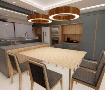 Amanda Leite Escritório de Arquitetura e Interiores - Arquiteto em Curitiba - Cozinha Moderna 01