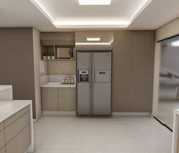 Amanda Leite Escritório de Arquitetura e Interiores - Arquiteto em Curitiba - Cozinha Moderna Branca 01