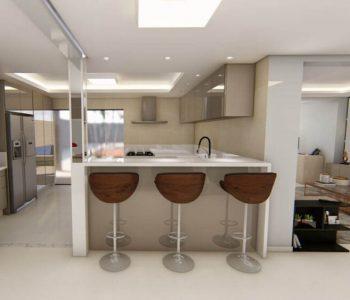 Amanda Leite Escritório de Arquitetura e Interiores - Arquiteto em Curitiba - Cozinha Moderna Branca