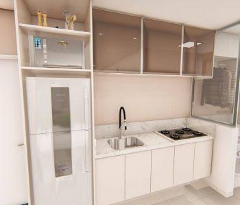 Amanda Leite Escritório de Arquitetura e Interiores - Arquiteto em Curitiba - Cozinha Pequena