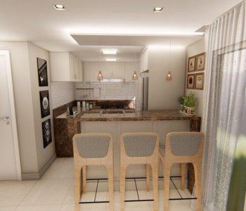Amanda Leite Escritório de Arquitetura e Interiores - Arquiteto em Curitiba - Cozinha Provençal 02