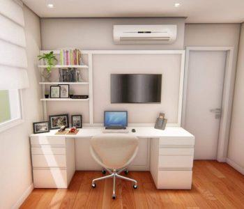 Amanda Leite Escritório de Arquitetura e Interiores - Arquiteto em Curitiba - Home Office Clean 01