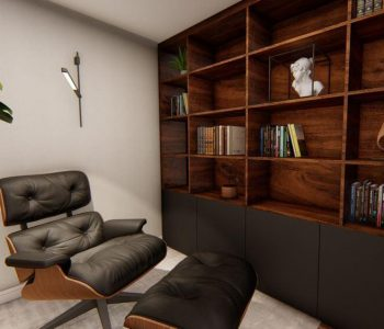Amanda Leite Escritório de Arquitetura e Interiores - Arquiteto em Curitiba - Home Office Sofisticado 01