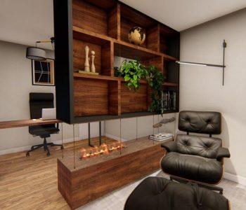 Amanda Leite Escritório de Arquitetura e Interiores - Arquiteto em Curitiba - Home Office Sofisticado 02