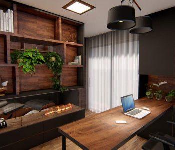 Amanda Leite Escritório de Arquitetura e Interiores - Arquiteto em Curitiba - Home Office Sofisticado 03