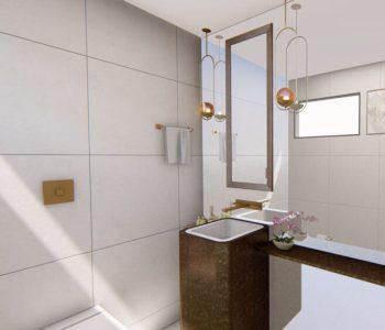 Amanda Leite Escritório de Arquitetura e Interiores - Arquiteto em Curitiba - Lavabo Moderno 01
