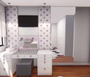 Amanda Leite Escritório de Arquitetura e Interiores - Arquiteto em Curitiba - Quarto Menina Lúdico Rosa 02