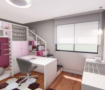 Amanda Leite Escritório de Arquitetura e Interiores - Arquiteto em Curitiba - Quarto Menina Lúdico Rosa 03