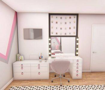 Amanda Leite Escritório de Arquitetura e Interiores - Arquiteto em Curitiba - Quarto Menina Montessoriano 01