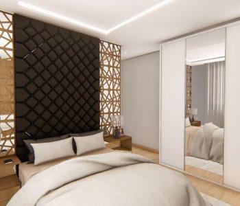 Amanda Leite Escritório de Arquitetura e Interiores - Arquiteto em Curitiba - Quarto Moderno Casal 02