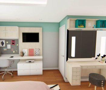 Amanda Leite Escritório de Arquitetura e Interiores - Arquiteto em Curitiba - Quarto Moderno Menina Adolescente 02