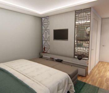Amanda Leite Escritório de Arquitetura e Interiores - Arquiteto em Curitiba - Quarto Sofisticado Casal 01