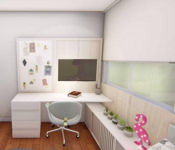 Amanda Leite Escritório de Arquitetura e Interiores - Arquiteto em Curitiba - Quarto pequeno menina adolescente 01