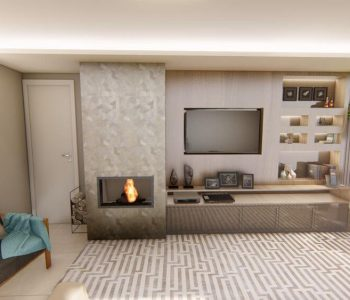 Amanda Leite Escritório de Arquitetura e Interiores - Arquiteto em Curitiba - Sala Moderna com Adega 03