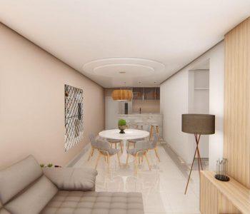 Amanda Leite Escritório de Arquitetura e Interiores - Arquiteto em Curitiba - Sala e Cozinha Contemporânea 01